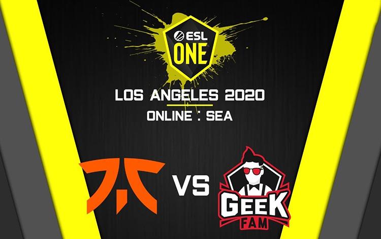 ESL One Los Angeles: Fnatic vs GeekFam - Thất bại là bị loại