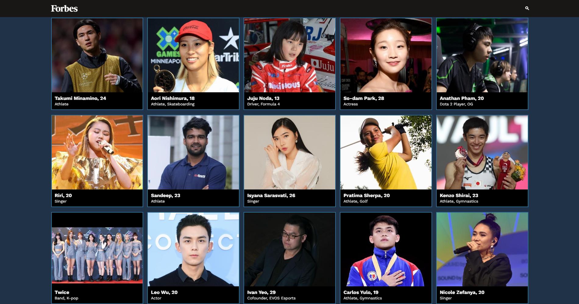 api cdn.gametv.vn 9146ef734cf146b7b85151b0044c6e17 - Ana xuất hiện trong top 30 người có sức ảnh hưởng nhất châu Á của tạp chí Forbes