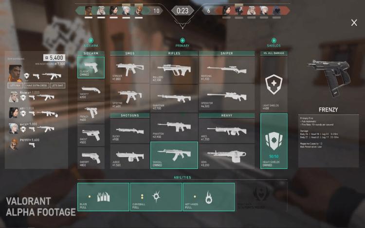 Tổng hợp toàn bộ vũ khí trong Valorant