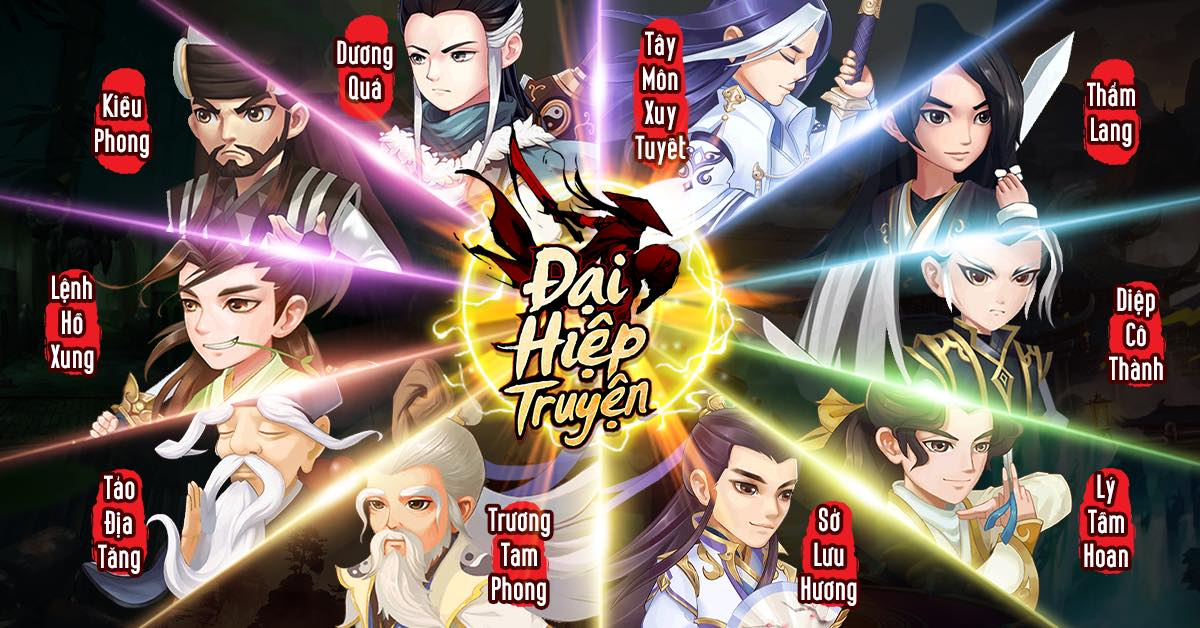 """Đại Hiệp Truyện trở thành """"hiện tượng làng game đấu tướng kiếm hiệp"""" với dàn nhân vật hùng hậu."""