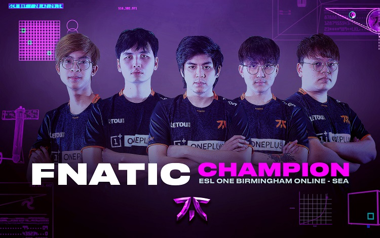 Fnatic khẳng định vị thế tại Đông Nam Á với 4 chức vô địch liên tiếp trong năm 2020