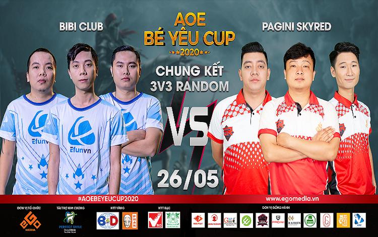 AoE Bé Yêu Cup 2020: Tường thuật trực tiếp nội dung chung kết solo random và 3v3 random