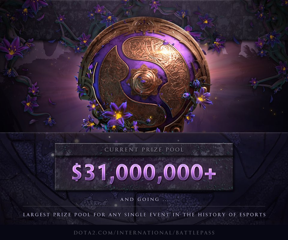 [DOTA 2] Tiền thưởng TI9 tăng không ngừng nghỉ, cán mốc 31 triệu đô la Mĩ sau 83 ngày ra mắt Battle Pass