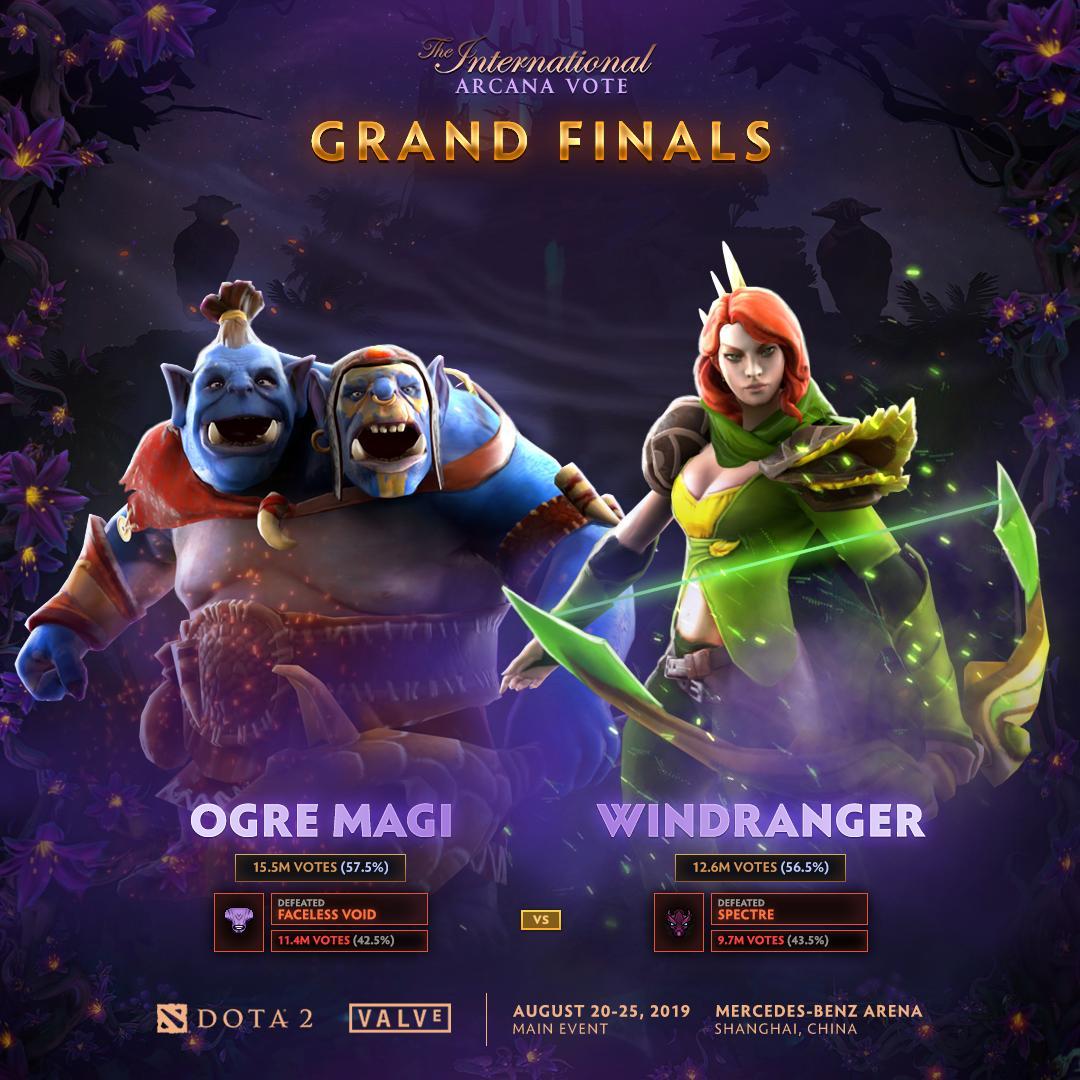 [DOTA 2] Địa chấn ở Arcana Vote, Ogre Magi đối đầu với Windranger tại chung kết