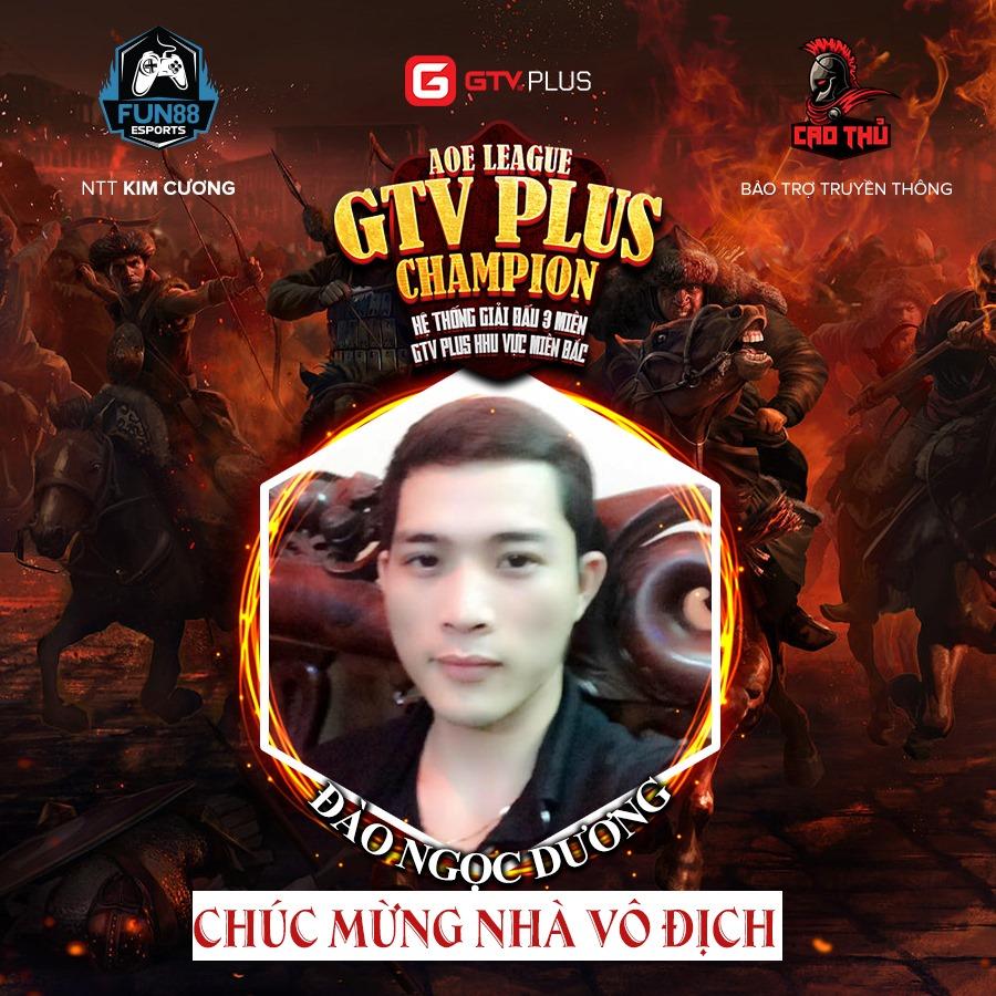 """Chung kết AoE GTV Plus Champion: Lật ngược """"thế cờ"""", Đào Ngọc Dương đăng quang"""