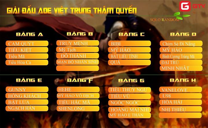 Lịch thi đấu giải Việt Trung 2019 ngày 14 - 10