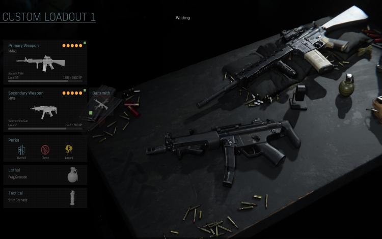 Súng trường M4 và tiểu liên MP5: