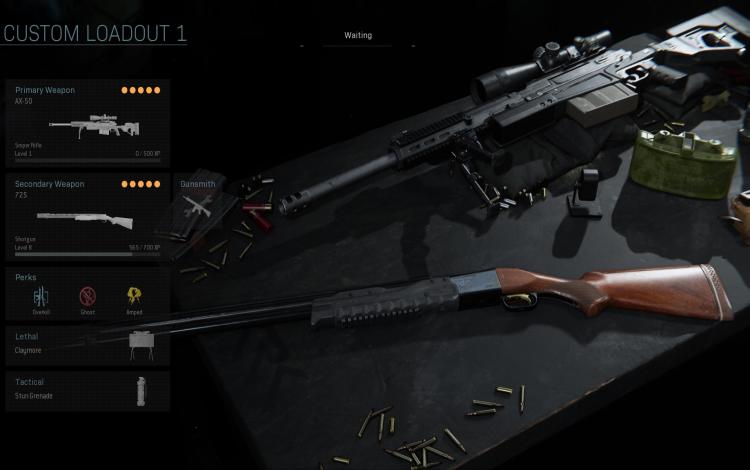 AX-50 Sniper Rifle và shotgun 725: