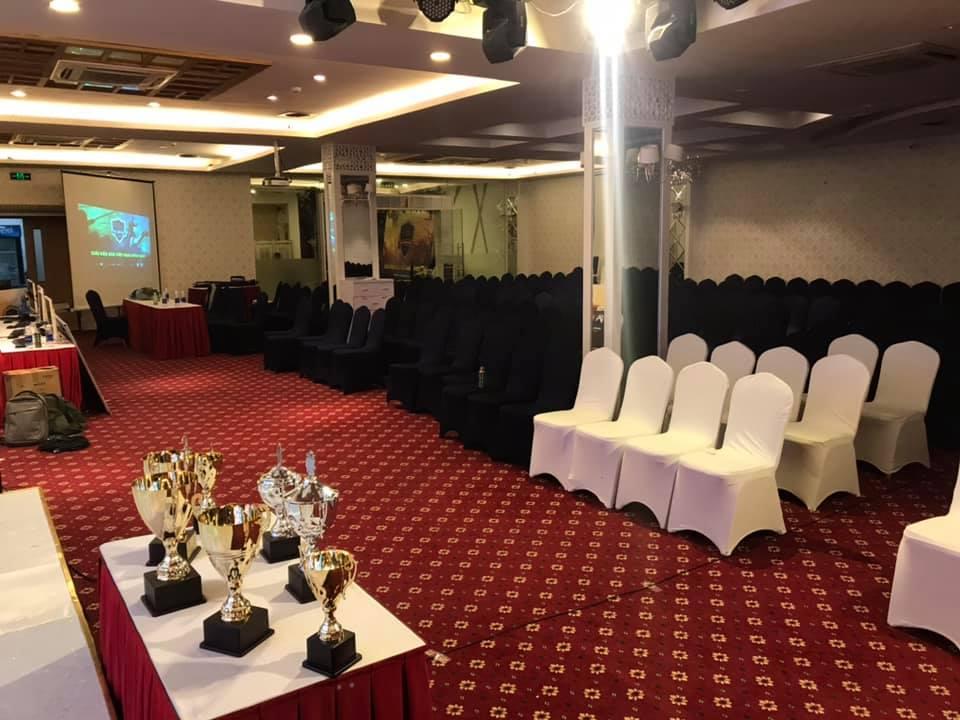 Trung tâm hội nghị Trống Đồng Place - số 22 Thành Công nơi diễn ra 2 ngày tranh tài cuối cùng của giải đấu AoE Việt Nam Open 2019