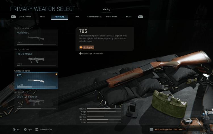 AUG SMG đã nhận được một vài buff trong bản cập nhật Modern Warfare ngày 19 tháng 11.