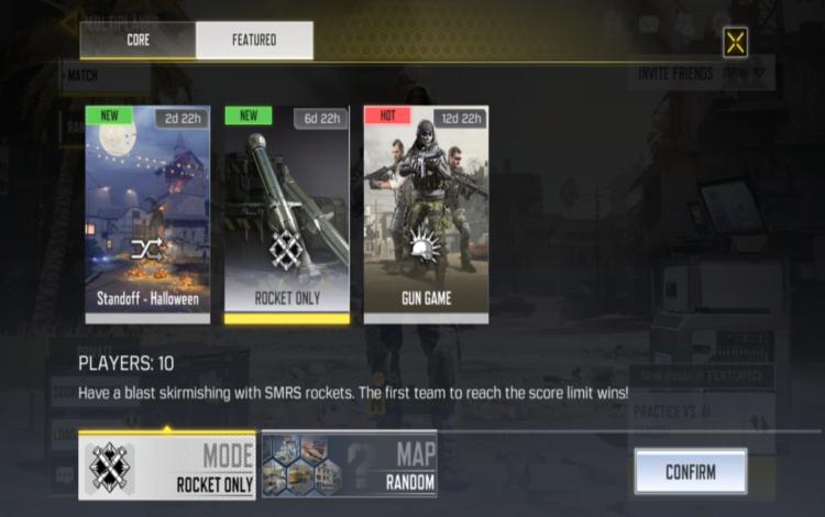 Rockets-only là chế độ giới hạn thời gian trên Call of Duty Mobile.