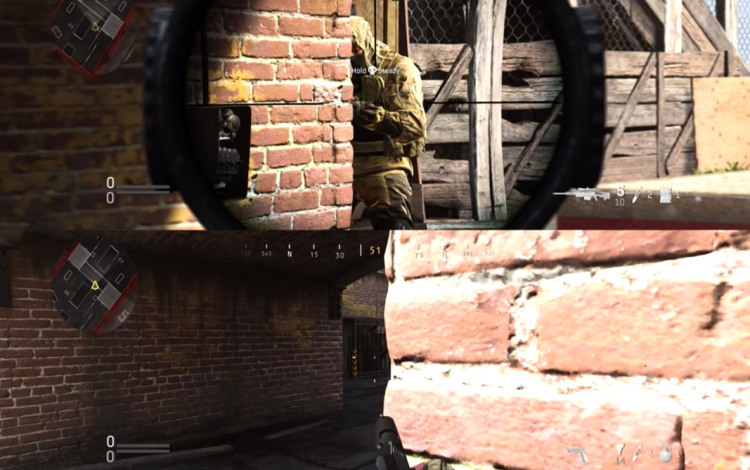 Các phối cảnh màn hình phân chia được cung cấp bởi Ace cho thấy mức độ của các vấn đề.
