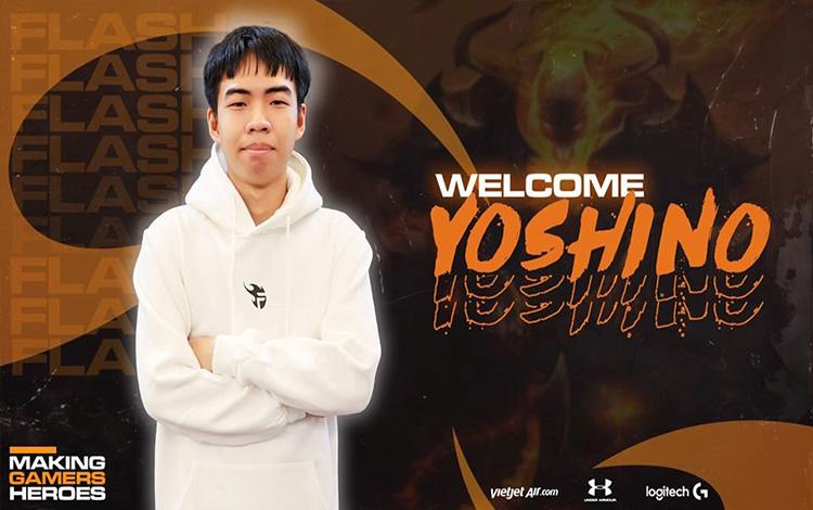 """Chuyển nhượng VCS: Yoshino gia nhập Team Flash, đe dọa vị trí với """"Đại đế"""" Stark"""