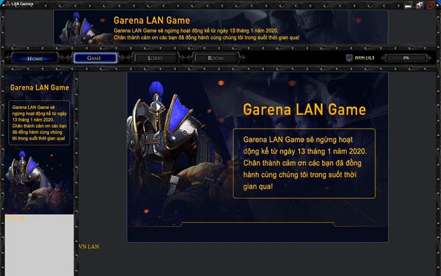 Garena Lan Games ngừng hoạt động: Tạm biệt