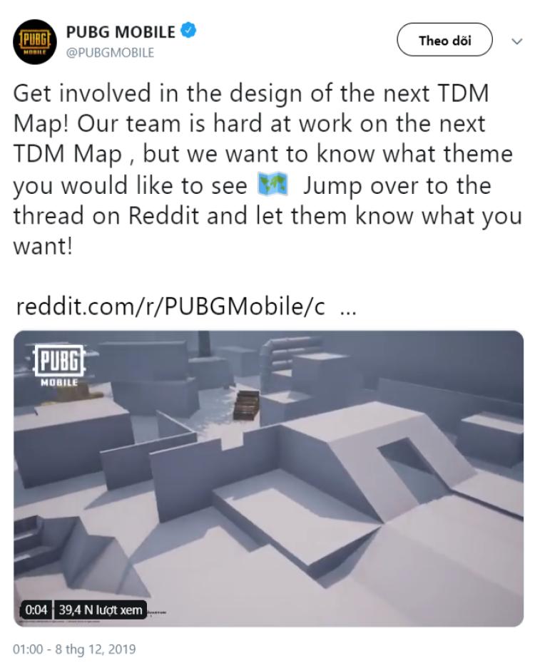 thông báo về bản đồ mới