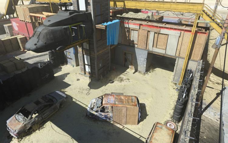 Cẩn thận với những vụ nổ đi lạc qua các bức tường của Office vào Junkyard trên Shoot House.