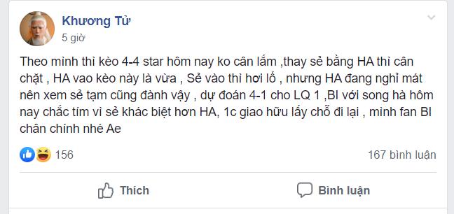 Một fan của BiBi nhận xét rằng đây sẽ là một kèo đấu rất khó đối với Liên quân Chim Sẻ Đi Nắng