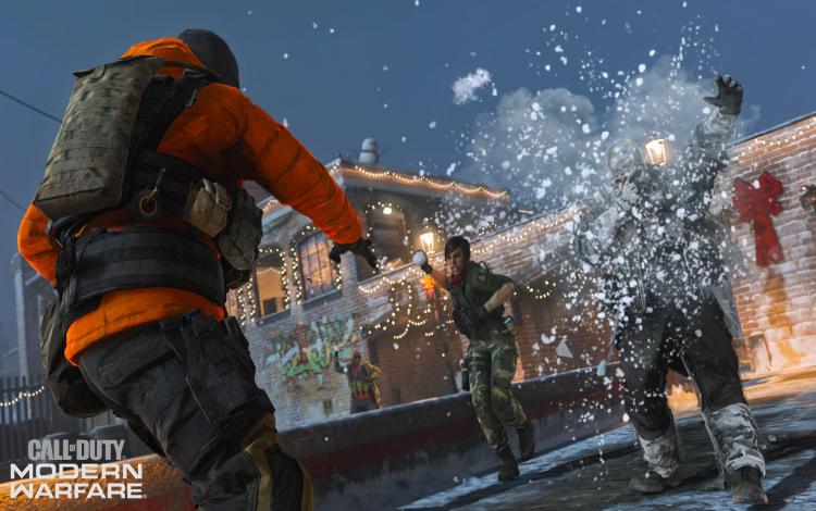 Chế độ Snowfight mới trong Gunfight thay thế vũ khí bằng bóng tuyết.
