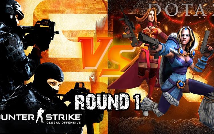 Sẽ thế nào nếu Hero DotA 2 đối đầu với các chiến sĩ chống khủng bố trong CS:GO?