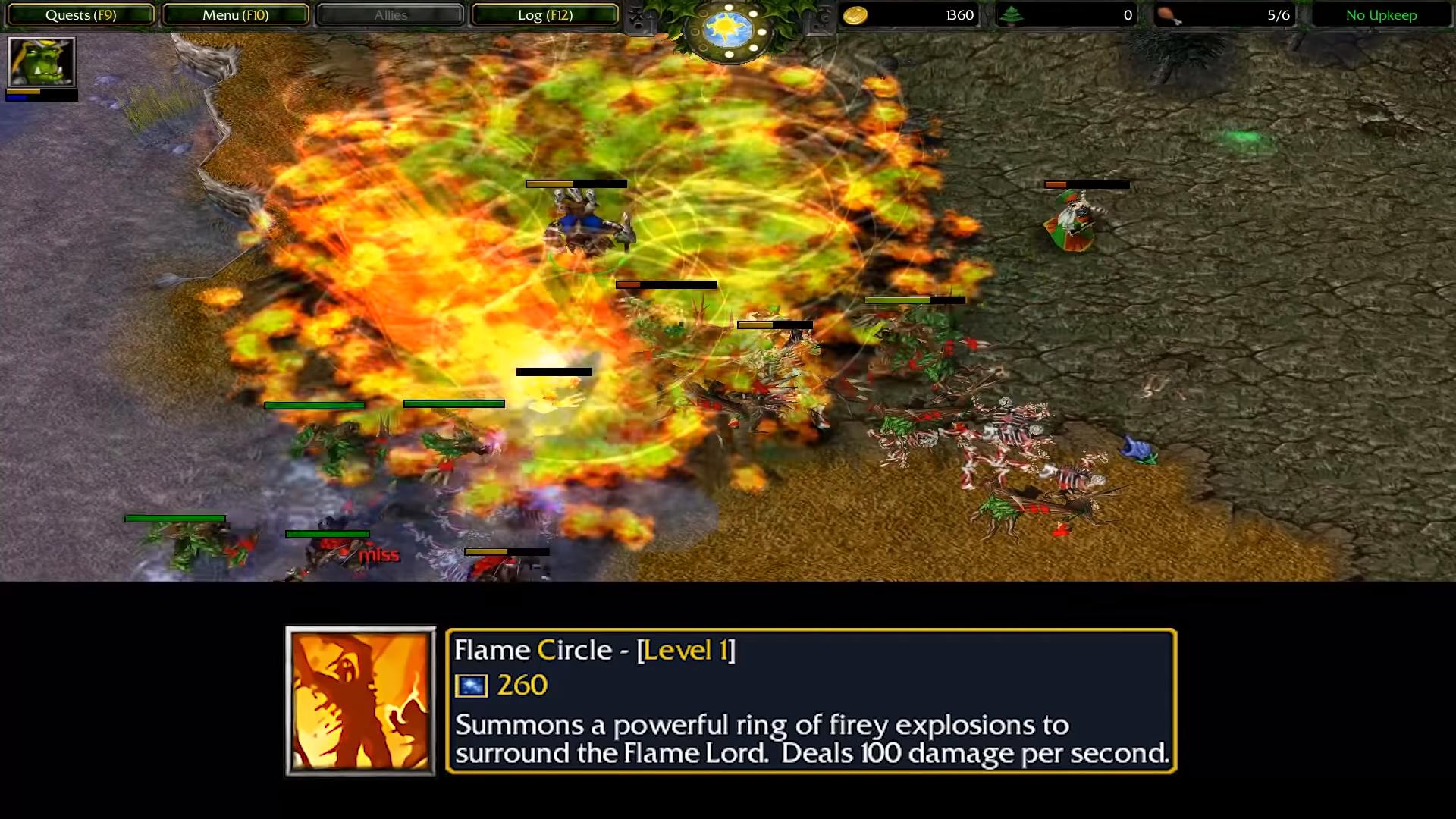 """flame circle - Những hero """"bá đạo"""" đã bị xóa sổ thời DOTA 1 (Phần 5)"""