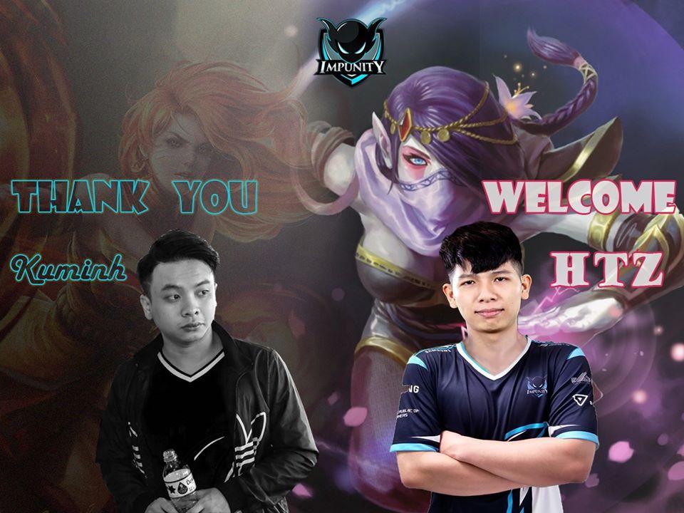 hTz impunity - Chia tay 496 Gaming, hTz nhanh chóng được top team Việt Nam săn đón