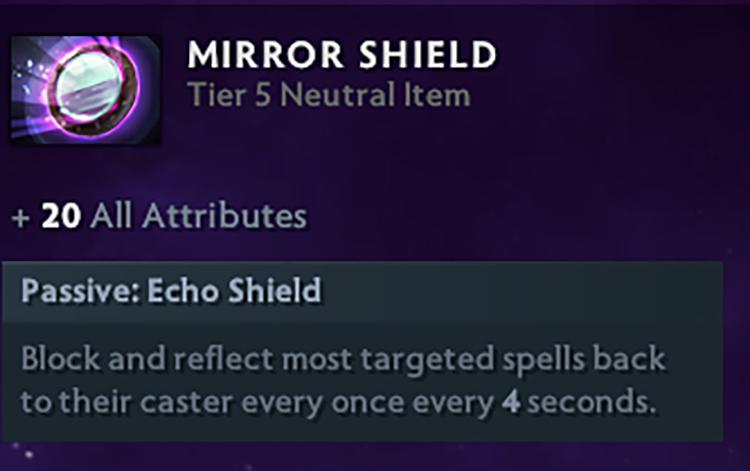 Bạn có biết? Mirror Shield đã có mặt tại thế giới DotA từ phiên bản 6.00?