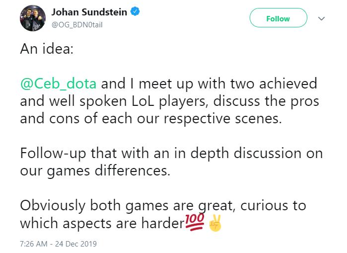 """notail tweet 2 - Notail nói về Dota 2 và LMHT: """"Đương nhiên cả 2 tựa game đều hay cả"""""""