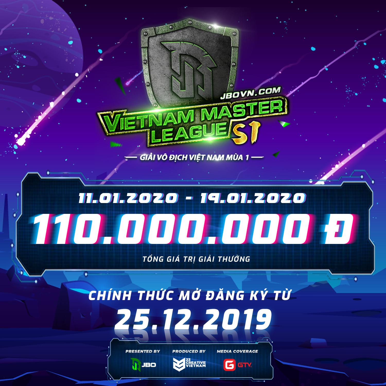 poster jbo master league - Vietnam Master League Season 1 chính thức mở cửa đăng ký