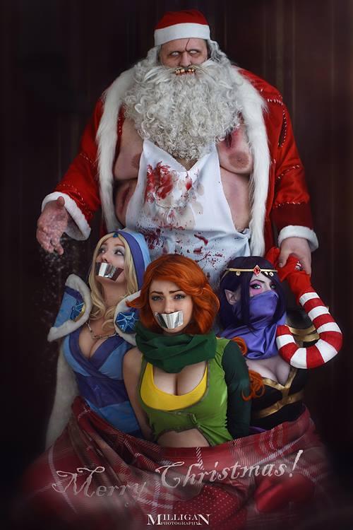 santa pudge - Những Hero Dota 2 nào phù hợp để chơi vào đêm Giáng sinh?