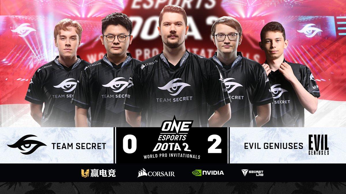 """secret 0 2 eg - """"Vùi dập"""" Puppey cùng đồng bọn, Evil Geniuses lọt vào top 3 ONE Esports Dota 2"""