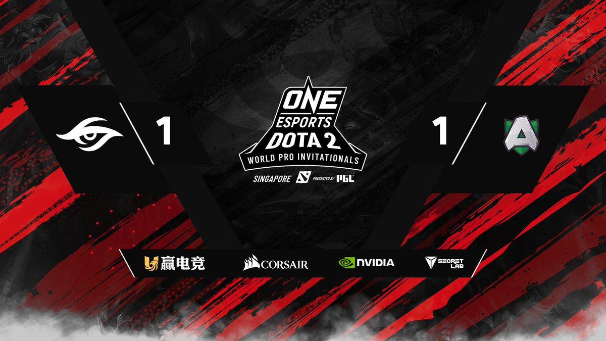 secret 1 1 A - Alliance và team Secret vững bước tiến vào Main Event của ONE Esports Dota 2