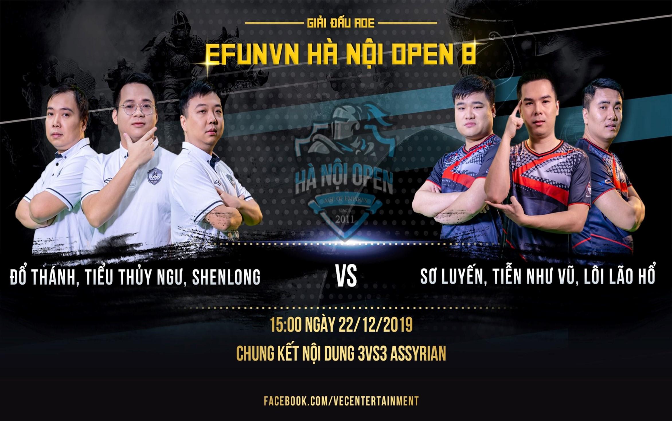 Tổng kết ngày thi đấu thứ 2 giải đấu AoE EFUNVN Hà Nội Open 8 Championship: Chung kết gọi tên các game thủ Trung Quốc