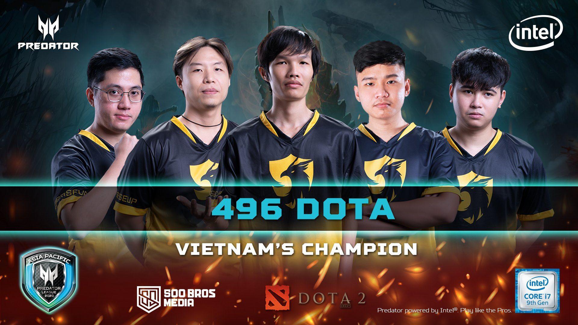 496 champion predator league - Chung kết Predator League 2020 khu vực Việt Nam: Ngôi vương gọi tên 496 Gaming