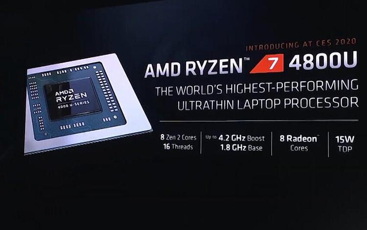 """AMD công bố CPU Ryzen 4000 Renoir """"nghiền nát"""" Ice Lake của Intel"""