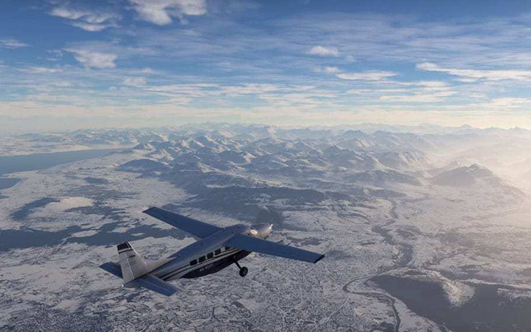 """Microsoft Flight Simulator khẳng định sự trở lại với video """"phủ tuyết"""" cực đẹp"""