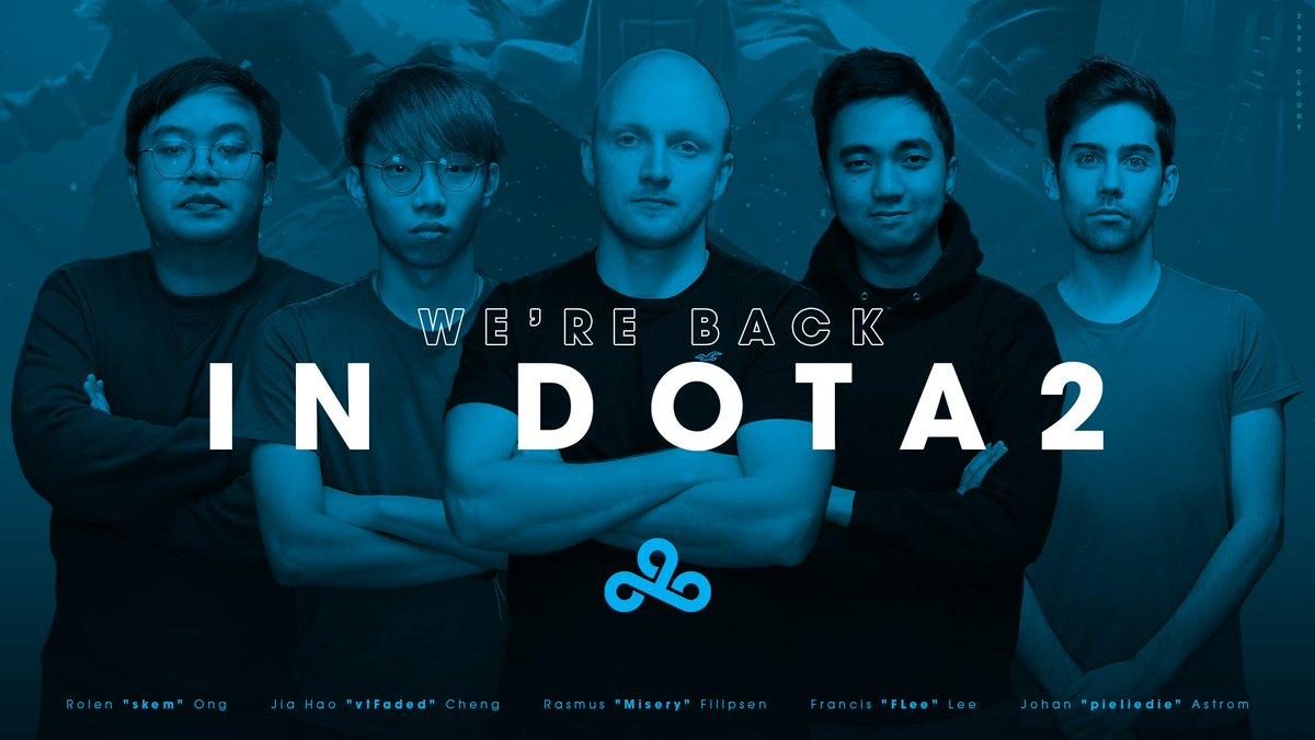 cloud9 new roster - Tổ chức Cloud9 chính thức trở lại với Dota 2 chuyên nghiệp