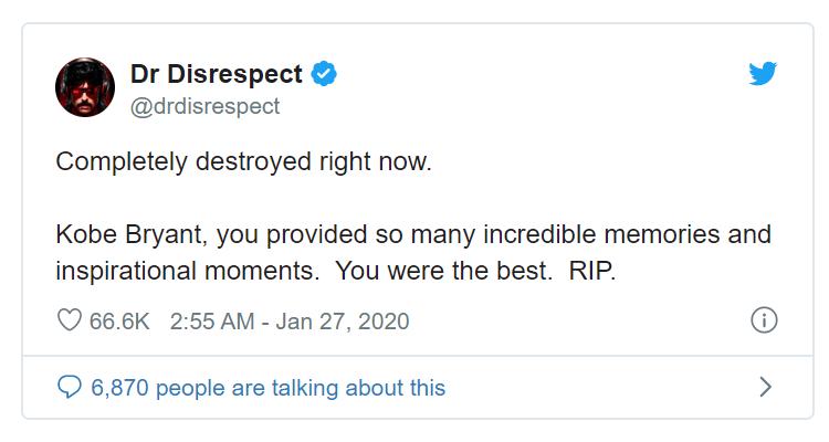 Dr Disrespect Kobe