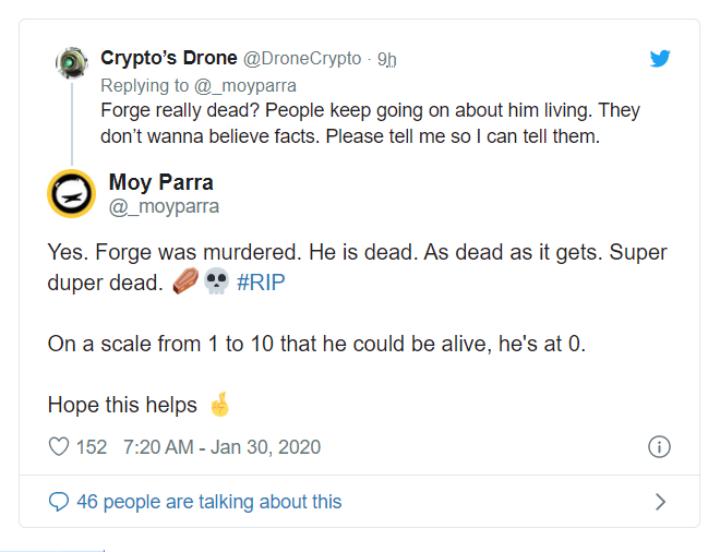 Forge dead tweet