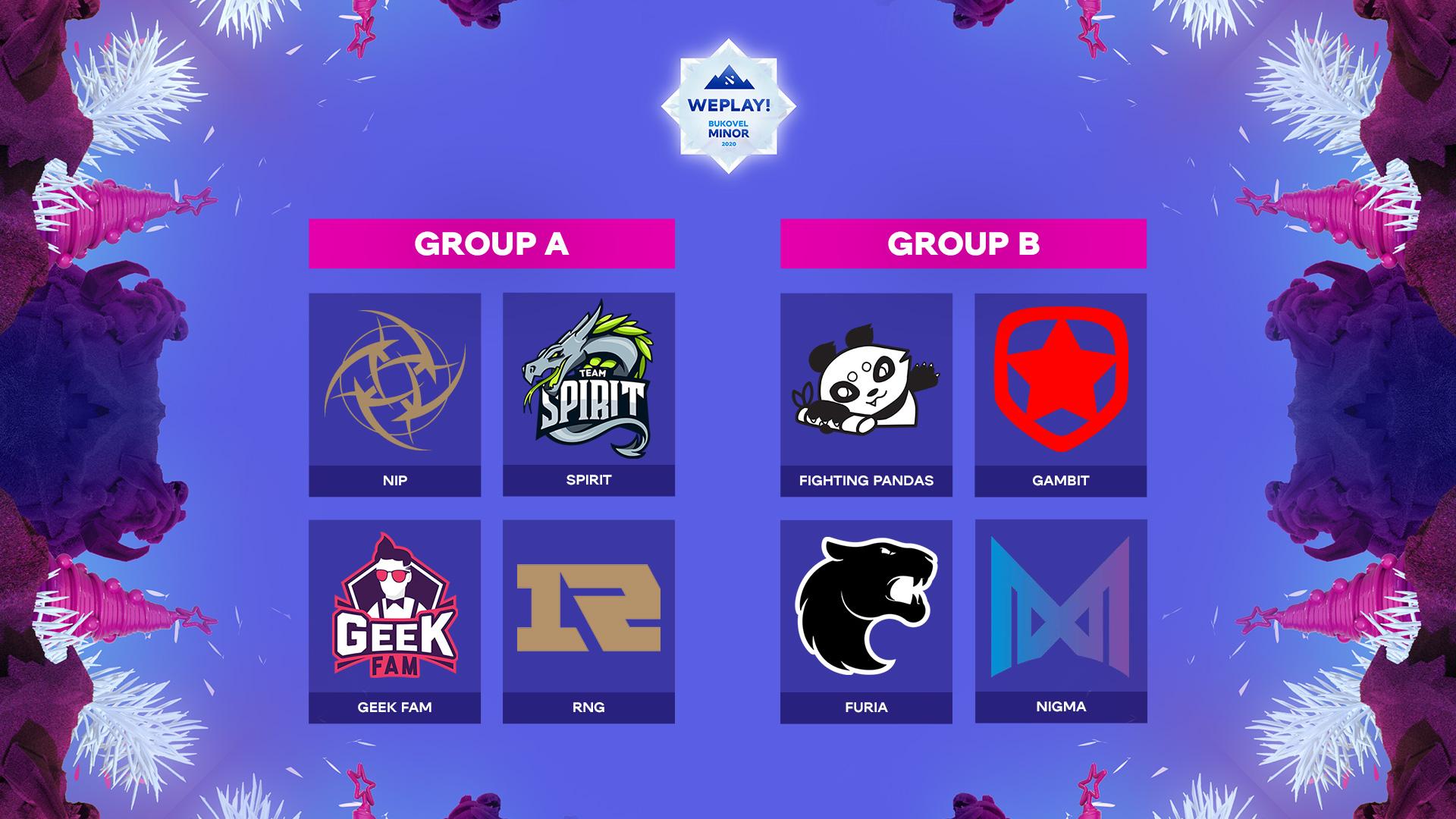 group stage bukovel - Lịch thi đấu và format vòng bảng WePlay! Bukovel Minor