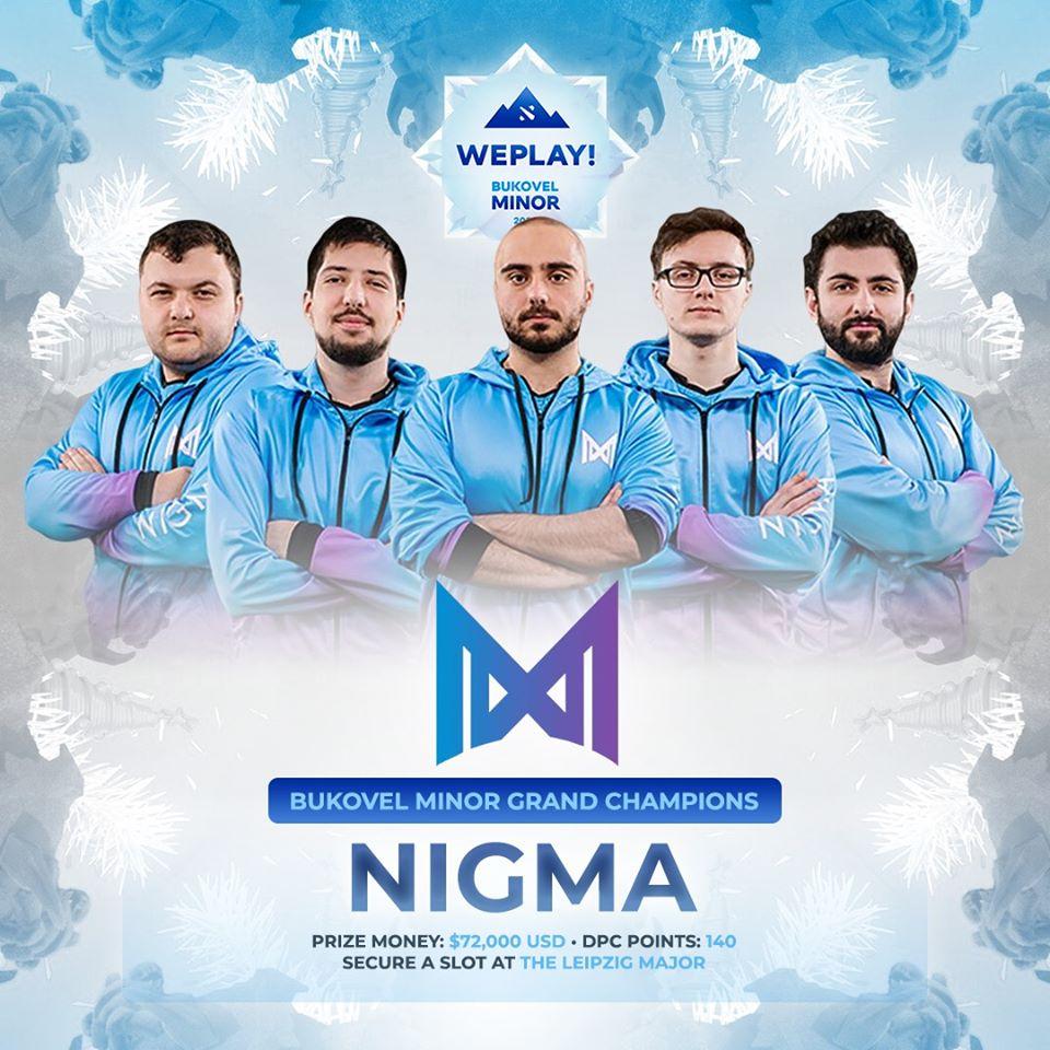 nigma bukovel minor champion - Bukovel Minor - Giải đấu của những điều tuyệt vời