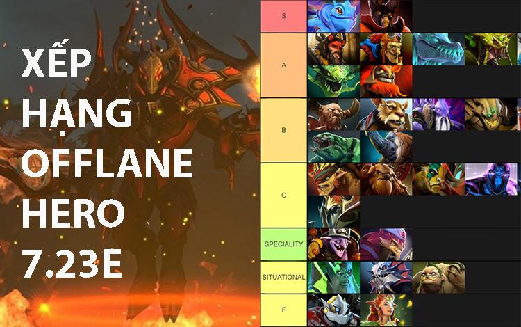 Xếp hạng những Offlane Hero của phiên bản 7.23e: Quỷ vương giá lâm
