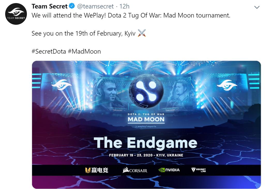 secret mad moon - Nigma nhận lời mời tham dự Tug of War: Mad Moon cùng team Secret