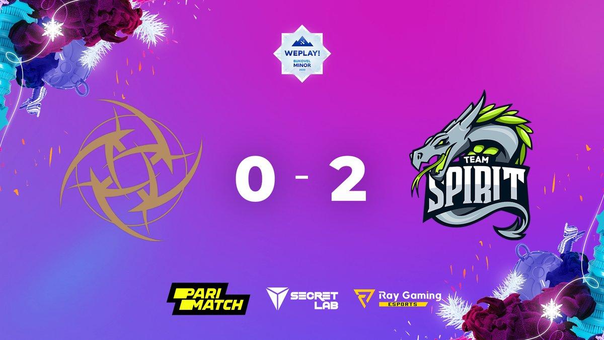 spirit 2 0 nip - Hồi sinh thất bại, NiP xách đồ về nước chỉ sau 2 ngày thi đấu tại Bukovel Minor
