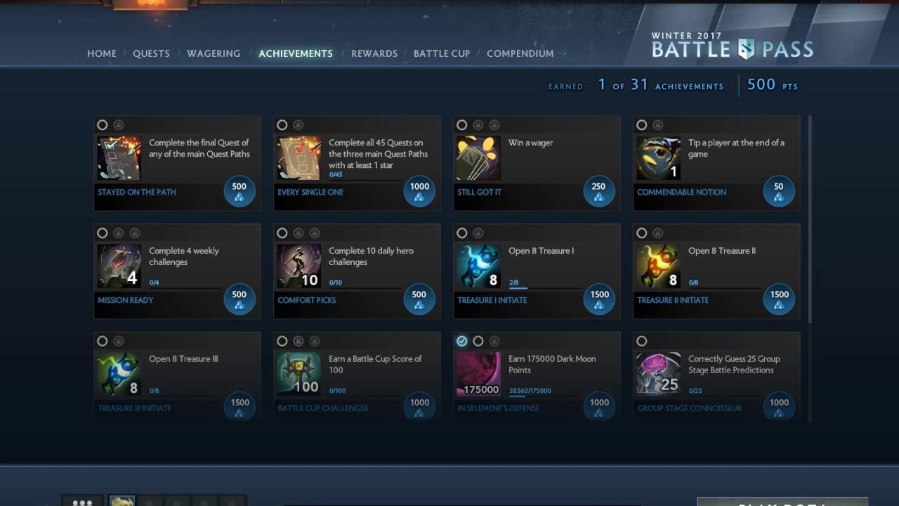 achievement bp - Lộ diện những tính năng sẽ xuất hiện trong Battle Pass The International 10