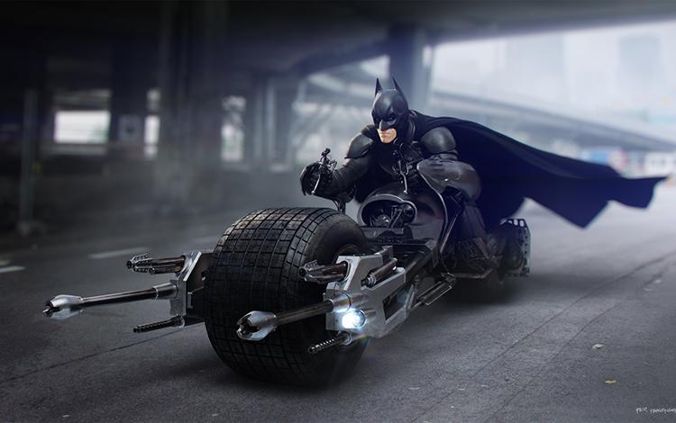 Rò rỉ tạo hình Bat Motorcycle trong tựa game Batman mới