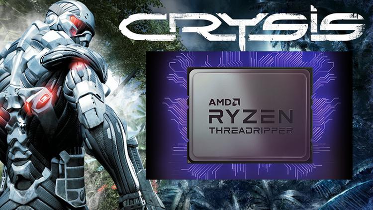 AMD Threadripper 3990X có thể cân Crysis mà không cần sự trợ giúp từ GPU
