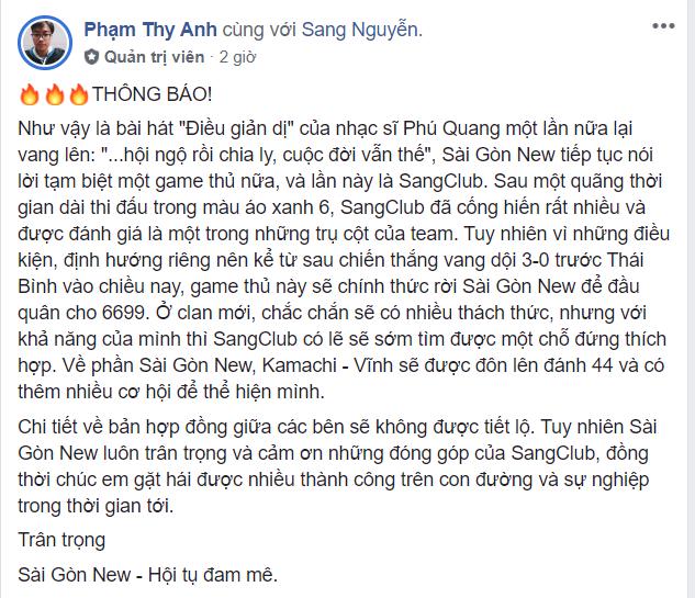 thong - bao - ve - viec - sangclub - chiat - tay - sai - gon - new