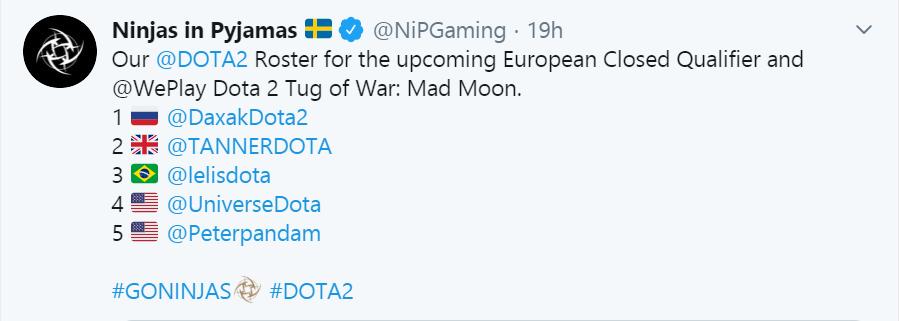 nip new roster - NiP thông báo đội hình mới, quyết tâm tranh vé Major tại khu vực châu Âu