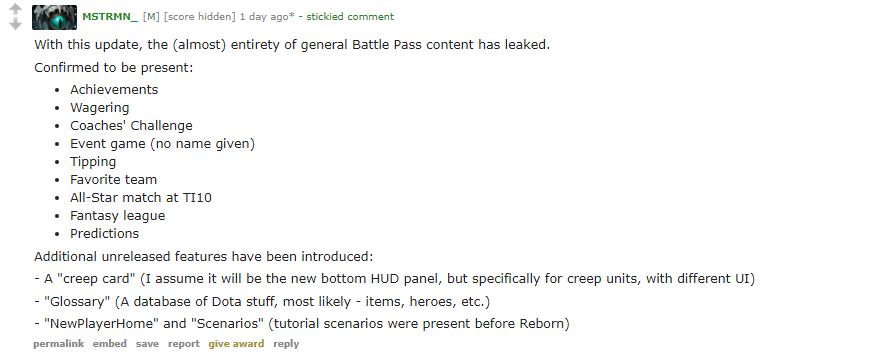 reddit leak bp - Lộ diện những tính năng sẽ xuất hiện trong Battle Pass The International 10