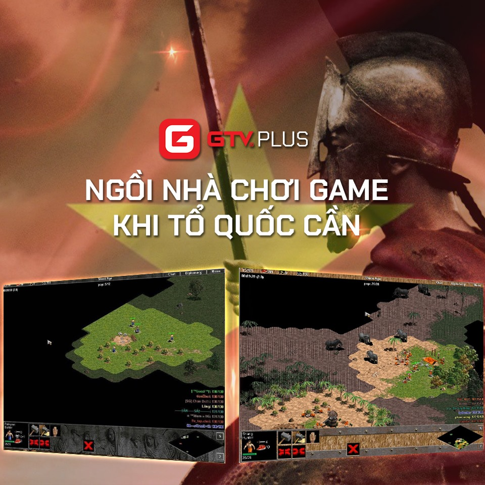 GTV Plus: Kêu gọi cộng đồng AoE ở nhà khi tổ quốc cần bằng giải đấu AoE oline